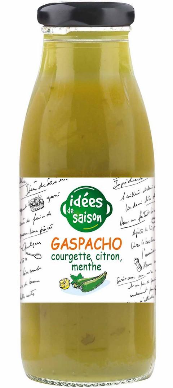 Gaspacho bio courgette citron menthe - Idées de saison