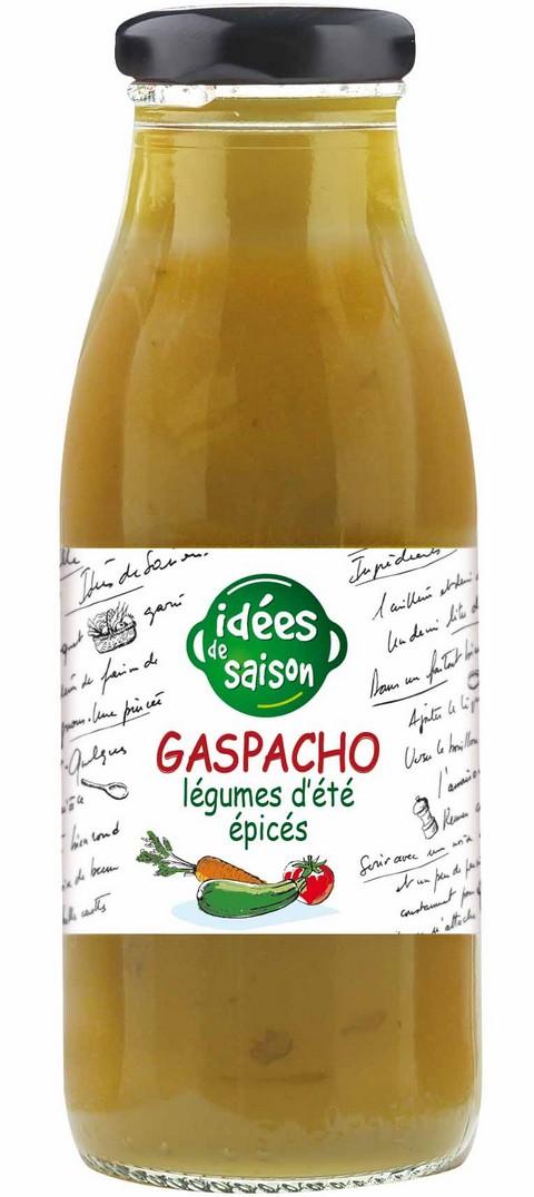 Gaspacho bio légumes d'été épicés - Idées de saison