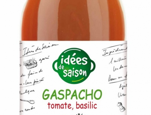 Gaspacho tomate, basilic