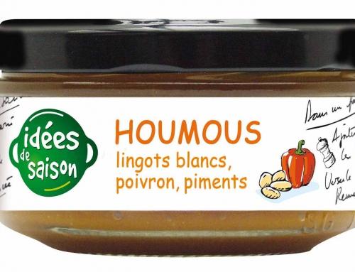 Houmous lingots blancs aux poivrons et piments