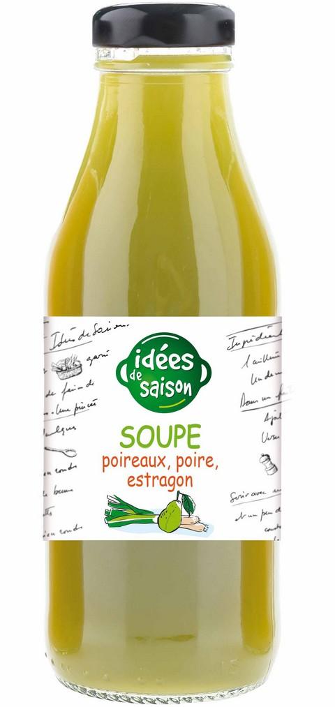 Soupe bio poireaux poire estragon - Idées de saison