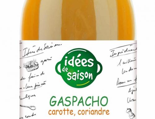 Gaspacho carotte, coriandre